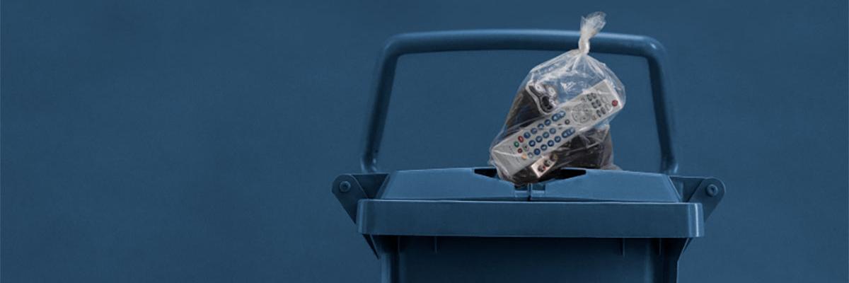 Pose på affaldsbeholder
