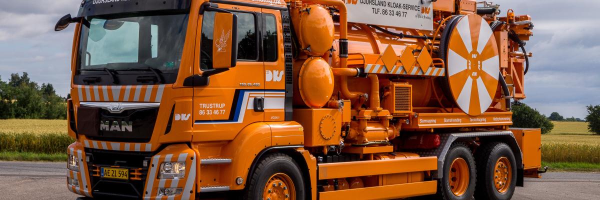 Lastbil tømningsordning